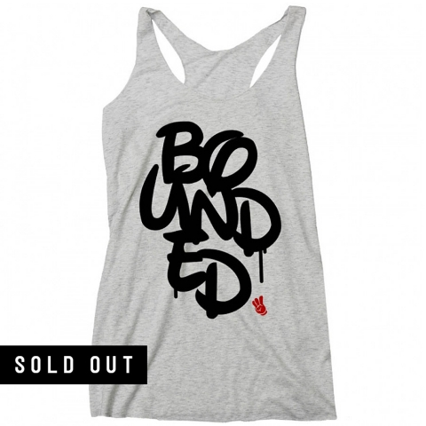 Bounded - Stacked Racerback Tank (Ladies)
