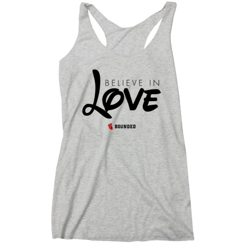 Bounded - Believe Love Women's Racerback