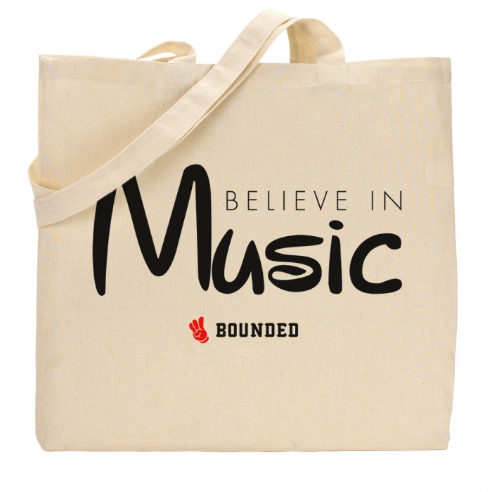 Bounded Believe Music Tote Bag